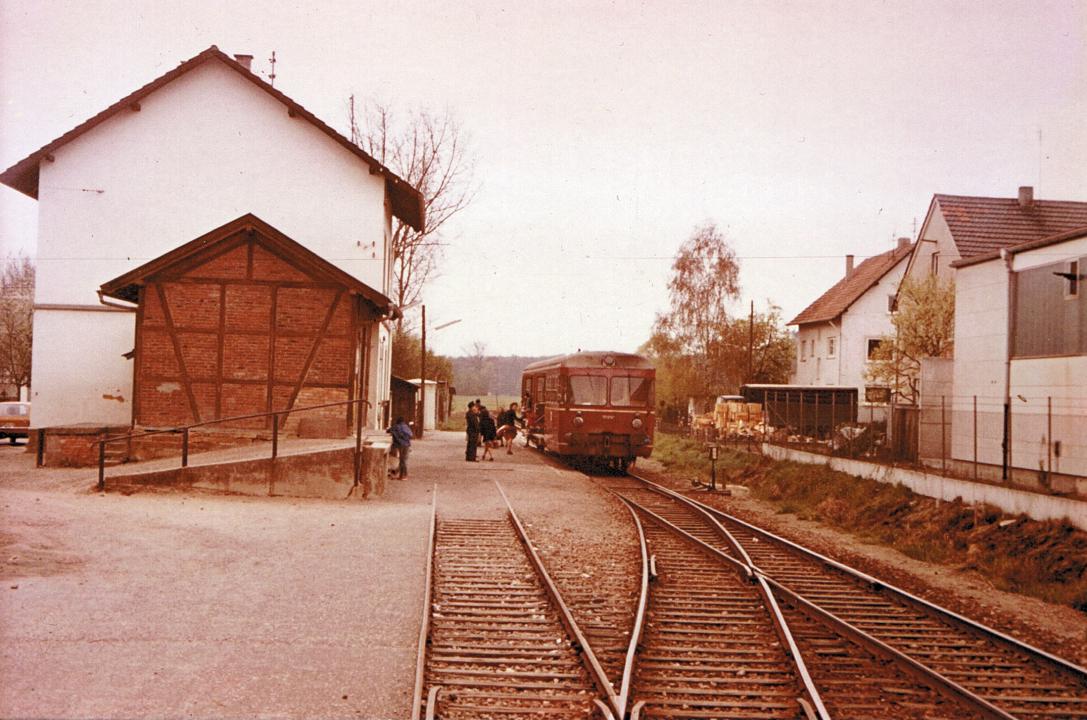 Bahnhof Münzesheim 1976