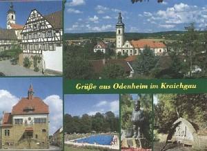 Postkarte mit Odenheimer Motiven