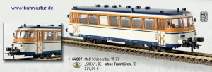 Der Brekina 64007 Triebwagen der SWEG als VT 27 in aktueller Lackierung